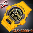 在庫有り!即納可【あす楽対応】CASIOカシオG-SHOCKGショック腕時計【耐低温-20℃】GLS-8900-9イエロー黄やまぶき色【防水】GライドG-LIDE【国内GLS-8900-9JFと同型】海外モデル【新品】