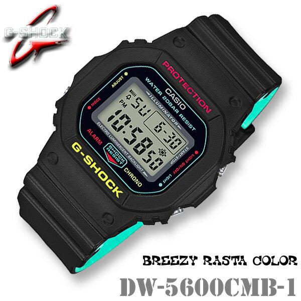 腕時計, メンズ腕時計 CASIO G-SHOCK DW-5600CMB-1 G Breezy Rasta Color DW-5600CMB-1JF