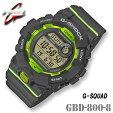 CASIOG-SHOCKGBD-800-8G-SQUADカシオGショック腕時計ブラック【国内GBD-800-8JFと同型】海外モデル【新品】*送料無料*(北海道・沖縄は一部ご負担)