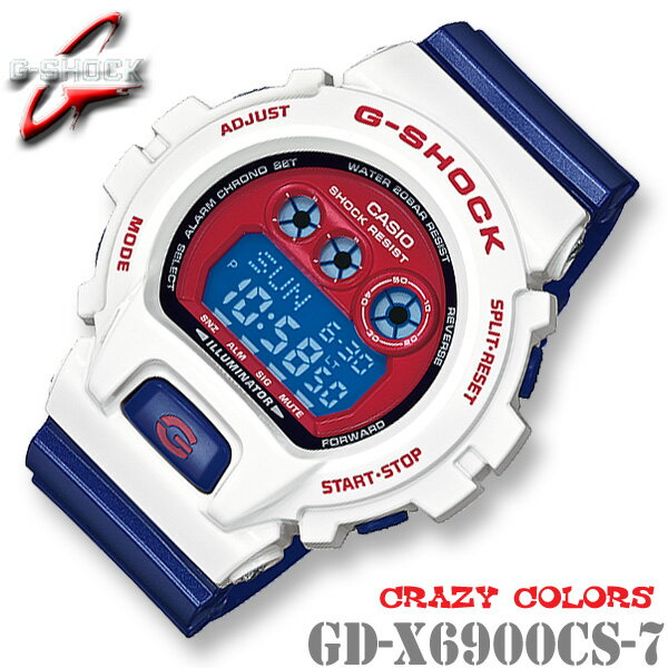 腕時計, メンズ腕時計 CASIO G-SHOCK G GD-X6900CS-7 Crazy Colors GD-X6900CS-7JF