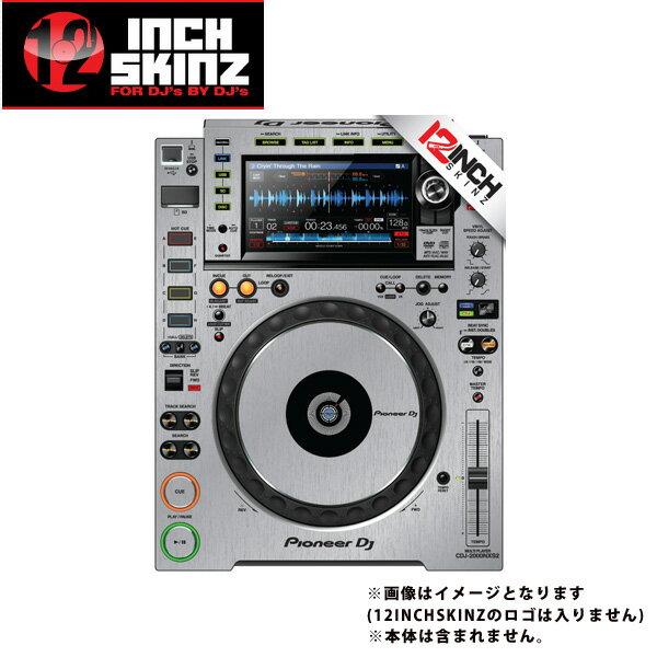 DJ機器, その他 12inch SKINZ Pioneer CDJ-2000NXS2 Skinz Metallics (Brushed Silver) CDJ-2000NXS2