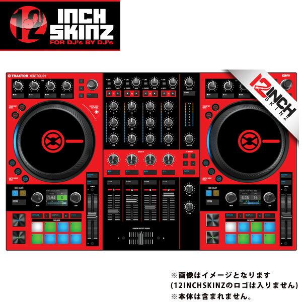 DJ機器, その他 12inch SKINZ Native Instruments Kontrol S4 MK3 Skinz (RedBlack) Kontrol S4 MK3