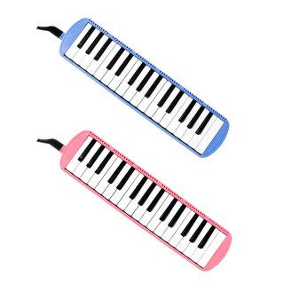 鍵盤ハーモニカ(ブルー)/FunMelo(ファンメロ)【32鍵盤/ドレミシール,名前シール,クリーニングクロス,1年保証付き,即日発送】