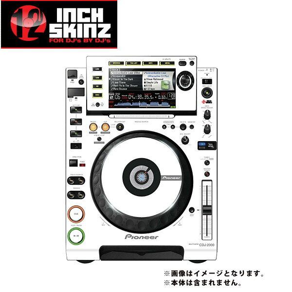 DJ機器, CDJプレーヤー 12inch SKINZ Pioneer CDJ-2000 Skinz (WhiteGray) CDJ-2000