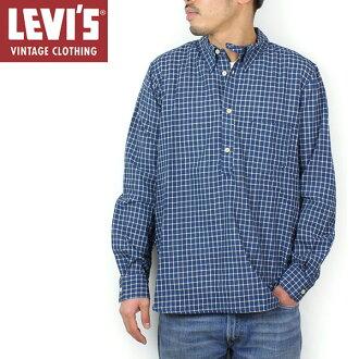 Levi's Vintage Clothing 1920s 1口袋日落襯衫[INDIGO CHECK]李維斯復古閉上襯衫LVC 60481-0014人靛藍樂天郵購點數10倍