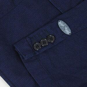 FRAIZZOLIフライツォーリインディゴ染めトラベルジャケット[DARKINDIGO]男性用メンズイタリア製藍染め3ボタンジャケットハリウッドランチマーケットHRM送料無料【RCP】
