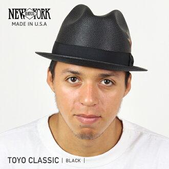 NEW YORK HAT Toyo Classic (the New York Hat Straw Hat Black Straw Hat mens Womens 2271)