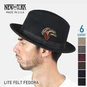 NEWYORKHATLITEFELTFEDORAニューヨークハットライトフェルトフェドラハットMadeinUSA#5319