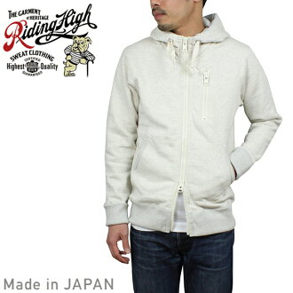 騎高騎高掛針織大衣 [燕麥] 男士迴圈輪汗水汗水大衣燕麥光灰色老式男人的日本造日本製造的你