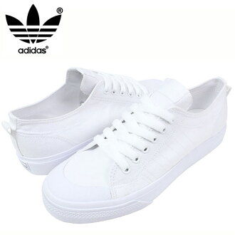 adidas阿迪達斯NIZZA LO CL 78運動鞋[ALL WHITE]ニッツァメンズオールホワイト白帆布鞋G95803