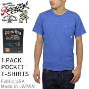 RIDINGHIGH�饤�ǥ��󥰥ϥ�STANDARDPACKCOLORPOCKETT-SHIRTS[BLUE]���T-shirts���åȥ����֥롼������MADEINJAPAN�����������������������ʡ���RCP��