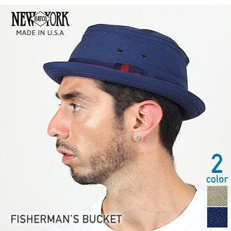 NEW YORK HAT Fisherman's Bucket (the New York Hat フィッシャーマンズバ KET pork pie Hat Navy mens Womens Hat #3025) 10P10Nov13
