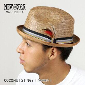 NEW YORK HAT Coconut Stingy (the hat straw hat men's women's New York Hat ココナッツスティンギー caps & straw hat #2122)
