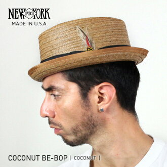 NEW YORK HAT Coconut Be-bop (the hat pork pie men's women's New York Hat ココナッツビバップ straw hat straw hat #2130)