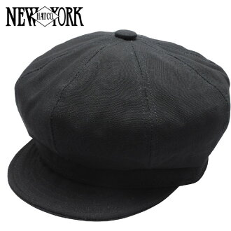 NEW YORK HAT Canvas Spitfire (the black mens ladies Hat hats New York canvas cotton newsboy #6216)