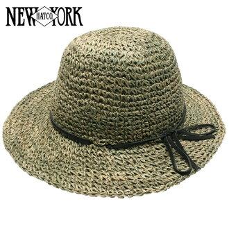 NEW YORK HAT Sea Grass Framer (shade for women natural straw hat ladies, New York Hat straw hat of シーグラスフレーマー #7117)