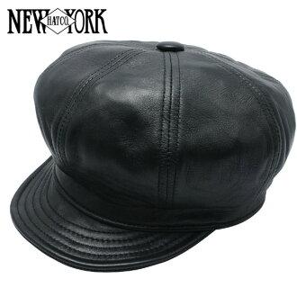 NEW YORK HAT Lambskin Spitfire (New York Hat lambskin leather newsboy black mens ladies Hat #9207)