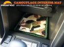 SWANPWAYスワンプウエイセンターコンソールマットスバルフォレスターSJ系カモフラージュ柄