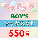 <アウトレットセール>お買い得っ福袋!【Boy's♪ソックス3足の福袋】≪9-21cm≫