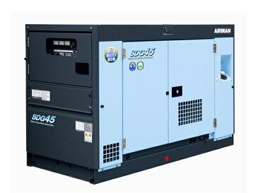 北越工業(AIRMAN) エンジン発電機 45kVA <SDG45S-3B1> 【インバーター 小型 家庭用 4サイクル 200v 防災グッズ インバータ発電機 風力 エンジン】