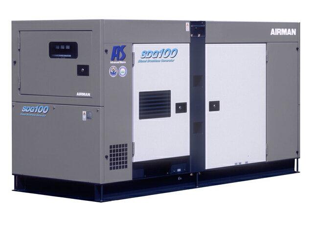 北越工業(AIRMAN) エンジン発電機 極超低騒音 100kVA <SDG100AS-3A6> 【インバーター 小型 家庭用 4サイクル 200v 防災グッズ インバータ発電機 風力 エンジン】