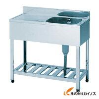 アズマ一槽水切シンク右水槽1500×600×800HPM1-1500R