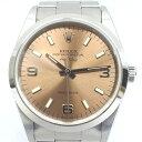 ロレックス 腕時計 自動巻き エアキング 14000 U番 ピンク 文字盤【質み