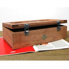セキュリティボックス・救急箱★ショート★木製小物入れ!コスメBOX等・・・