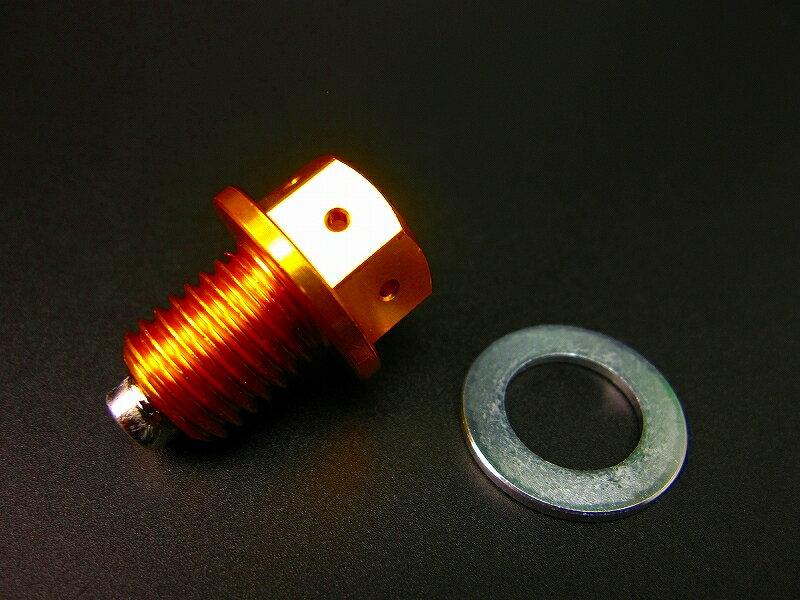 【あす楽】モンキー 系エンジン向けマグネットドレンプラグ ゴールド カスタムパーツ NO1618