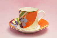 コーヒー碗皿◆マーチバルーンズ【フランク・ロイド・ライトデザインテーブルウェア】(ノリタケ)