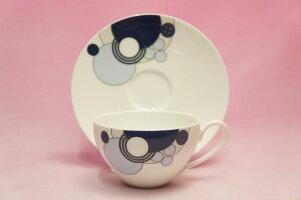 ティー・コーヒー碗皿◆インペリアルブルー【フランク・ロイド・ライトデザインテーブルウェア】(ノリタケ)