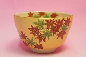 金地紅葉抹茶碗