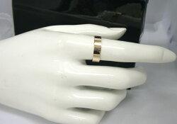 【男女兼用】K18ピンクゴールドの5mm幅平打ちリング【_包装】【smtb-TD】【saitama】