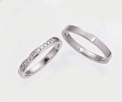 【ペア価格・結婚指輪】Pt900ダイヤモンドリング2点セット1013
