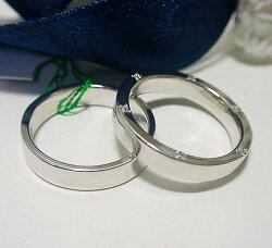 【ペア価格・結婚指輪】プラチナ900リング2点セット(A)