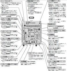 マスプロ双方向屋内用CATV・BS・CSブースター45dB型7BCA45(77BCA45A後継品)