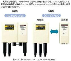 マスプロ電源部連結型CATV・BS・CS770MHzブースター28dB型7BCB28-B(7BCB28)