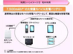 NTT西日本在庫限り特価!!大容量7500mA!!(3.7V換算時)光モバイルバッテリーHMB-10