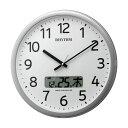 設定した時間にチャイムを鳴らす壁掛け時計 リズム 電波時計 4FNA01SR19 文字入れ対応、有料 ZAIKO