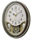 リズム RHYTHM メロディ 電波時計 スモールワールドハイム 壁掛け時計 4MN520RH23 文字入れ対応《有料》 ZAIKO