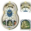 メロディ 電波時計 壁掛け時計 スモールワールドカラーズ 4MN543RH18 掛時計 リズム時計 文字入れ対応、有料 ZAIKO