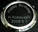 手巻き・自動巻き腕時計のガラスの裏ブタに文字、名入れオプション