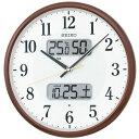温度・湿度・デジタルカレンダー 電波時計 壁掛け時計 掛時計 KX383B セイコー SEIKO 文字入れ不可 ZAIKO
