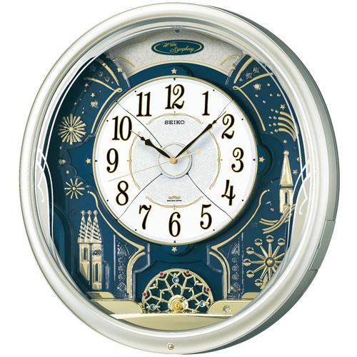 セイコー からくり時計 メロディー電波時計ウェーブシンフォニーRE561H 文字入れ対応《有料》 取り寄せ品:森本時計店