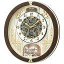 セイコーからくり時計 電波時計 壁掛け時計 RE579B ウェーブシンフォニー 文字入れ対応、有料 送料無料 取り寄せ品