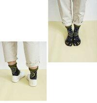 足袋ソックスレディースサイズつま先プリントが可愛い和柄がお洒落なつま先プリント足袋靴下女性用
