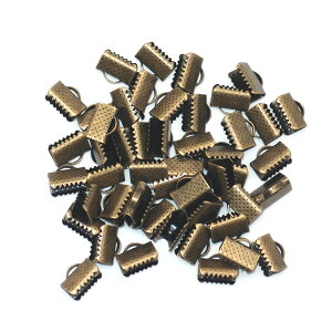 レース留め金具10mmアンティークゴールド50個