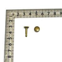 両面カシメ大超々足長頭9mm足16.5mmアンティークゴールドシルバー(ニッケル)100組セット【クロネコDM便OK】