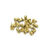 ギボシ(ネジ式)ミニ(5mm)アンティークゴールドシルバー(ニッケル)ゴールド(真鍮生地仕上げ)10個セット【クロネコDM便OK】