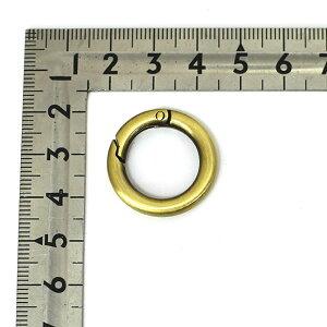 丸カラビナスカンミニ内径16mmアンティークゴールドシルバー(ニッケル)6個セット